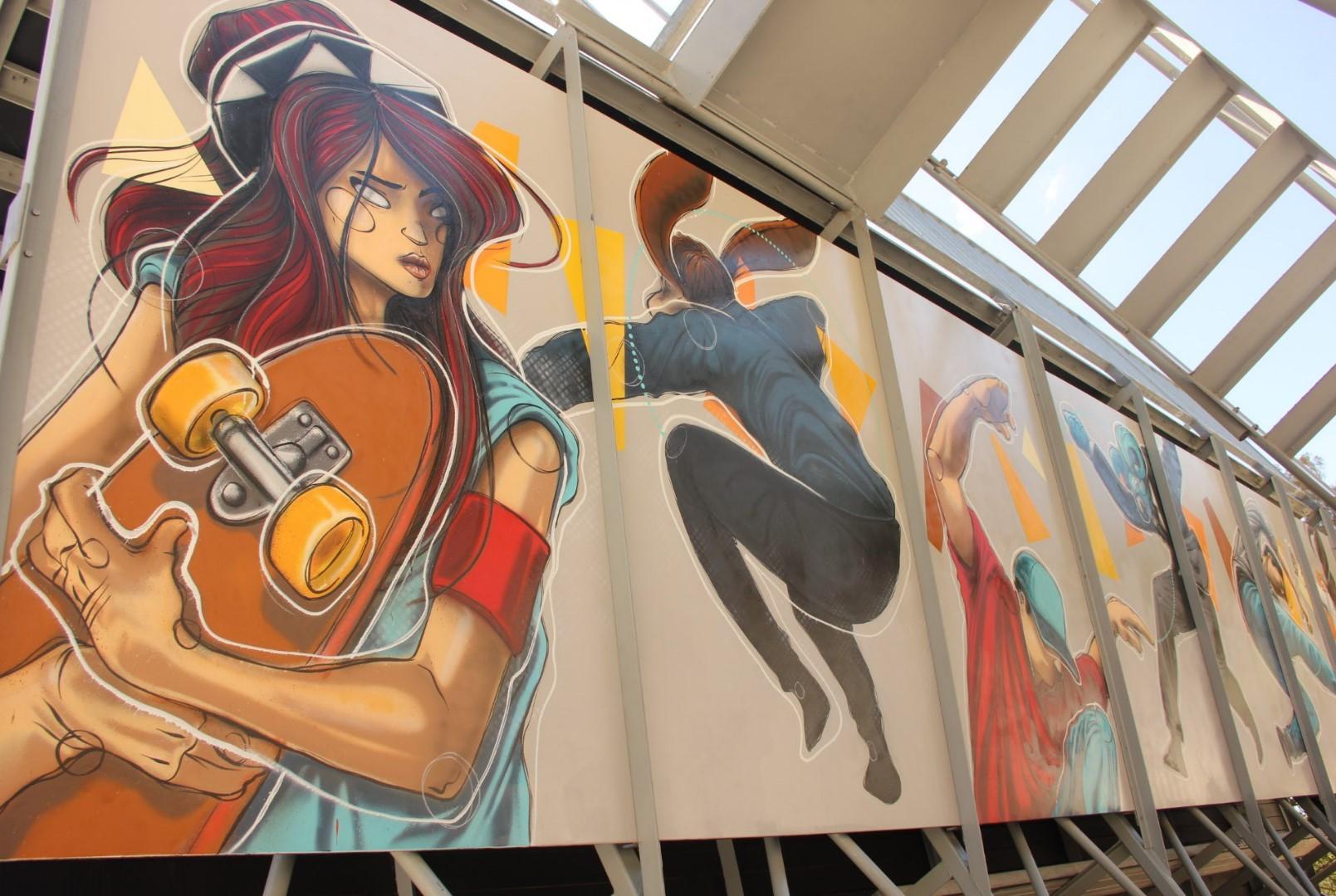 The new skate park artwork at Mona Vale.
