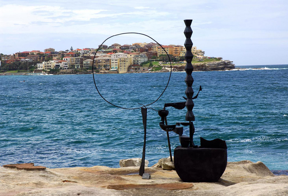 Orest Keywan,  Constanta Dreaming ,  Sculpture by the Sea, Bondi  2005. Photo Clyde Yee