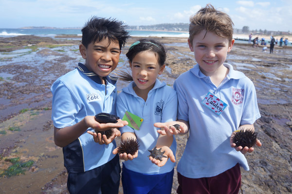Left to right: Kobe from St Monica's (North Parramatta), Carlia from St Canice's (Katoomba) and Cauley from St Rose's (Collaroy Plateau)