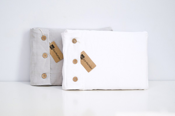 Linen quilt cover set in cool grey or white. Queen size $199