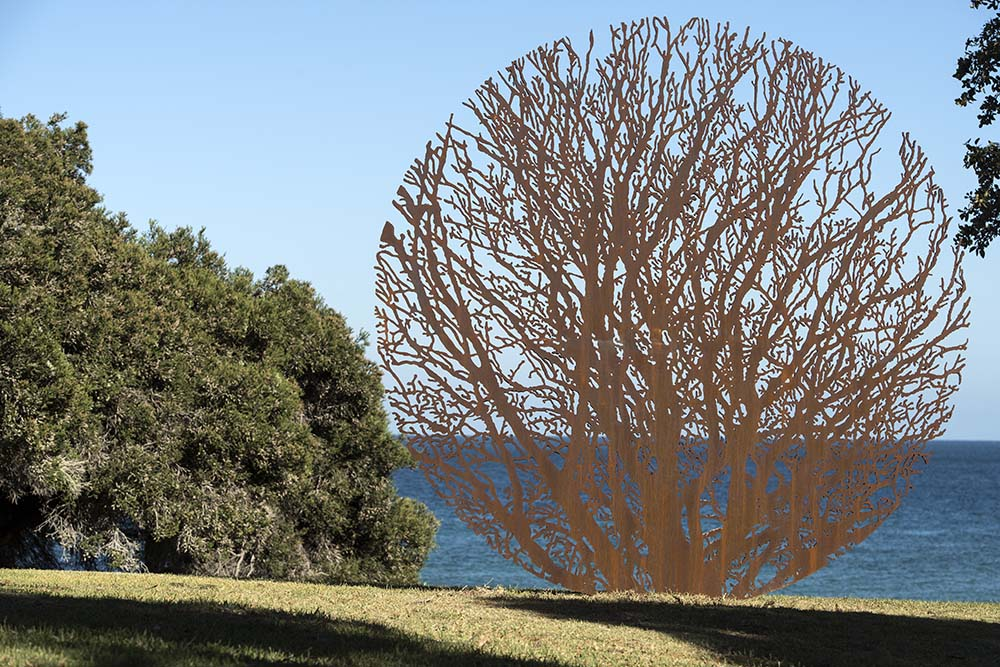Zadok Ben-David - Sunny Moon (2008) - Sculpture By The Sea, Cottesloe 2018 - Photograph by David Dare Parker