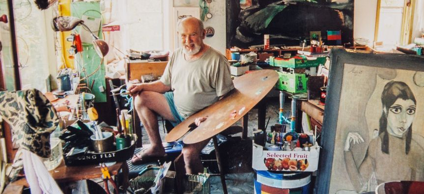 Jurgis Miksevicius in his Killara studio, 2004. Photo by Rodney Weidland