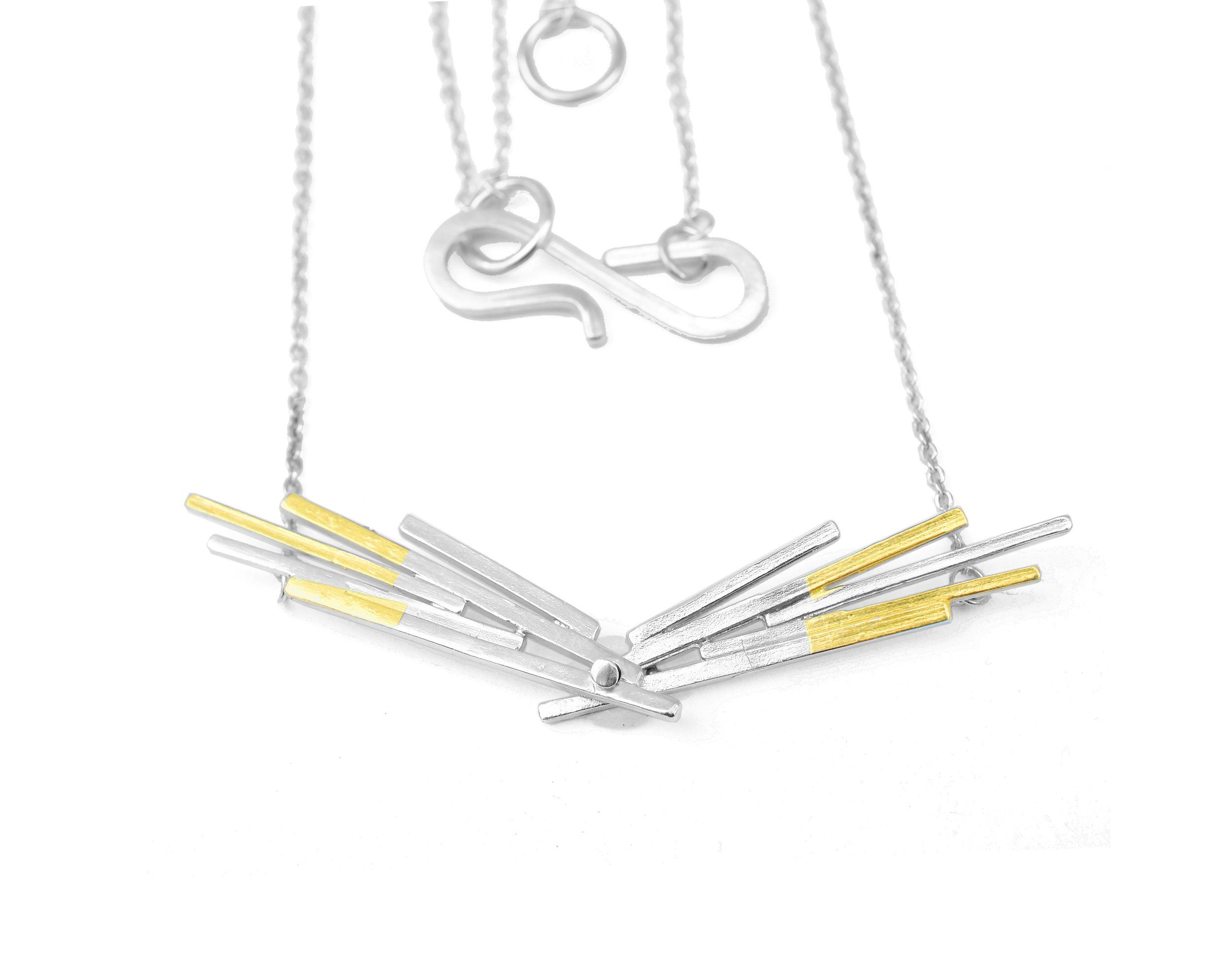 Wing Pendant |  Silver925 & 24k foil