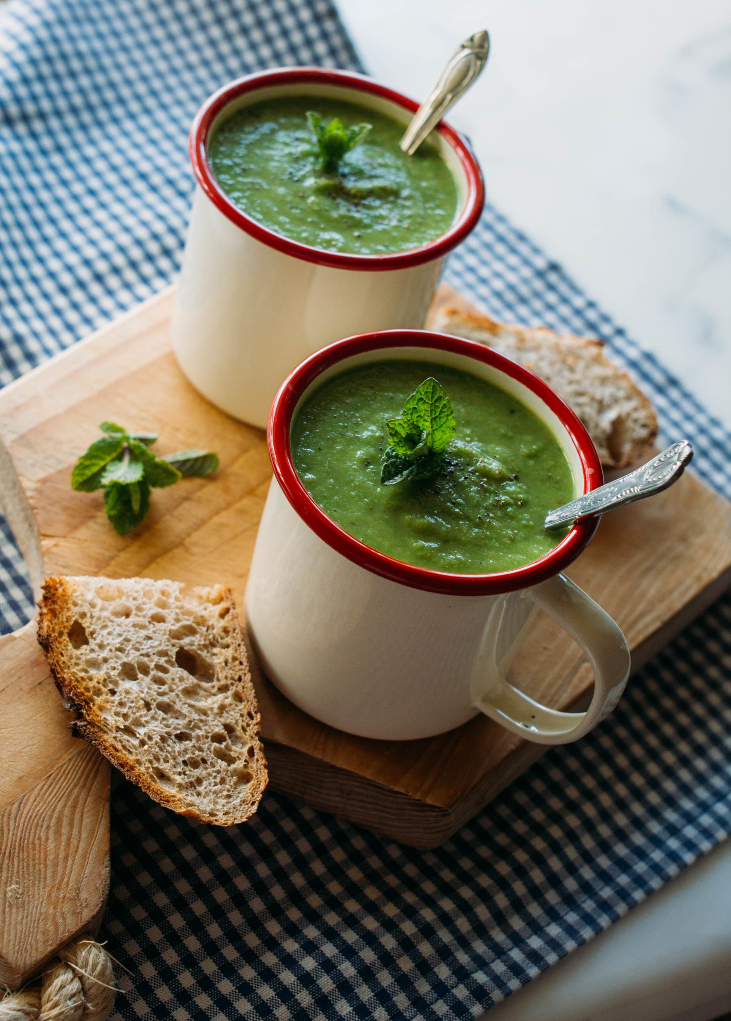 Pea+Mint+Soup