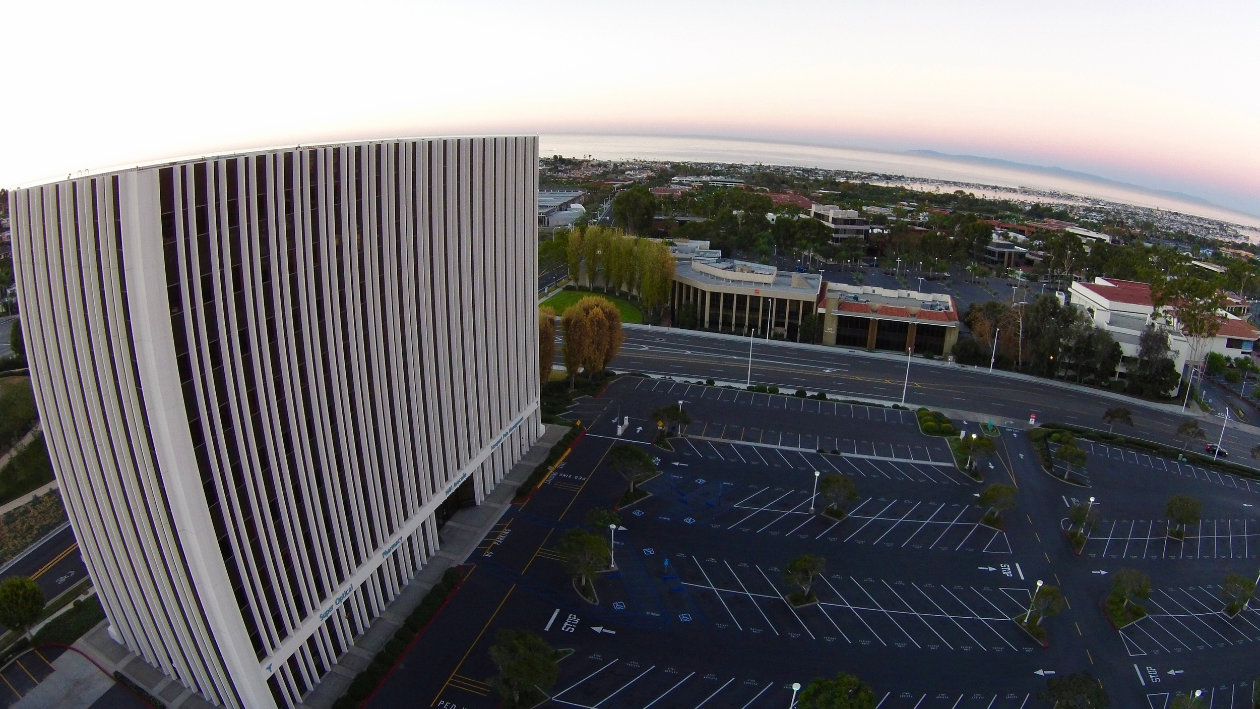 Aerial view of our ocean view location - 1401 Avocado, Newport Beach, California