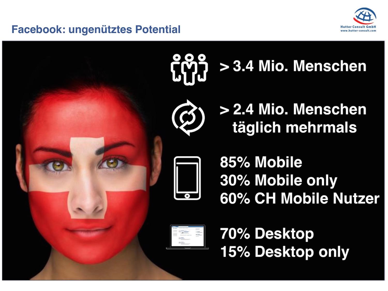 Zahlen und Fakten zu Facebook in der Schweiz ( Thomas Hutter )