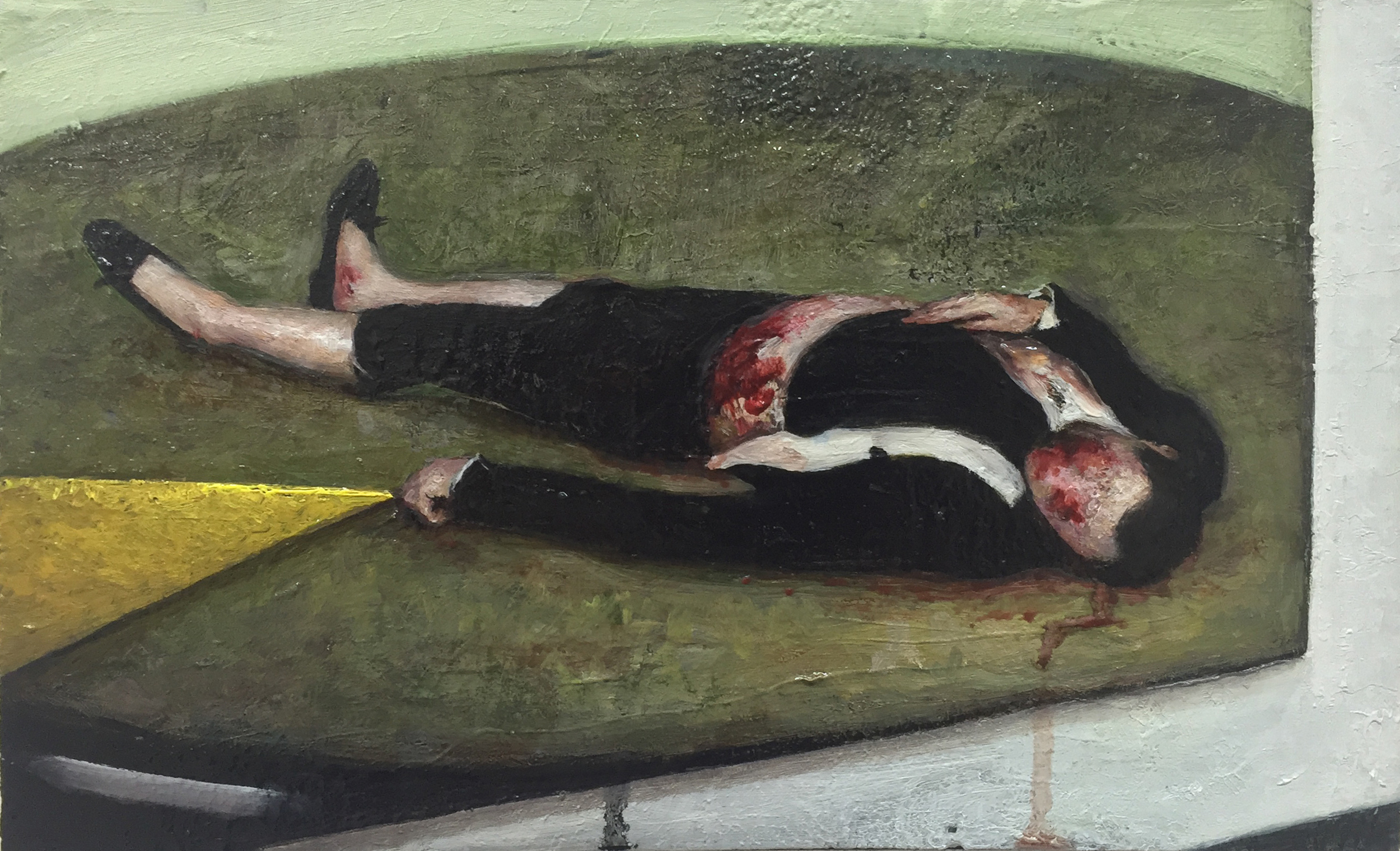 a dead toreador (after Manet)  oil on wood  2016