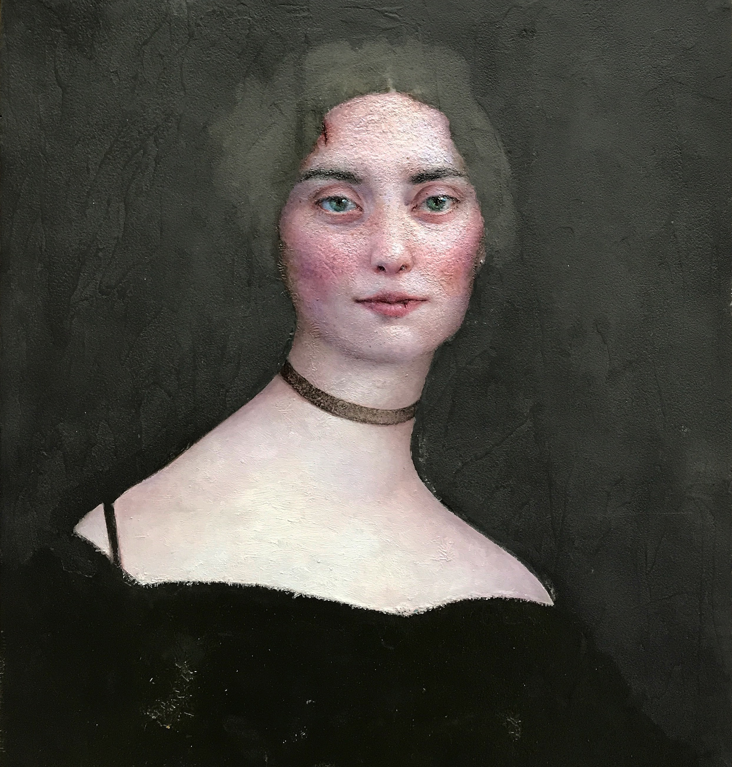a lady in black (after Ingres)