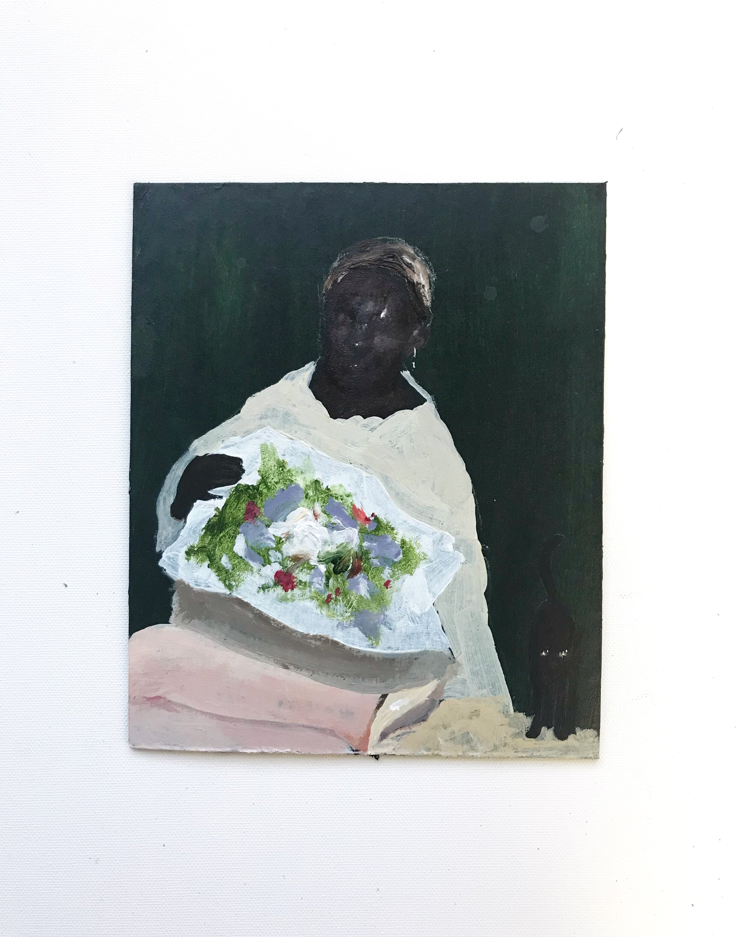 maid with flowers