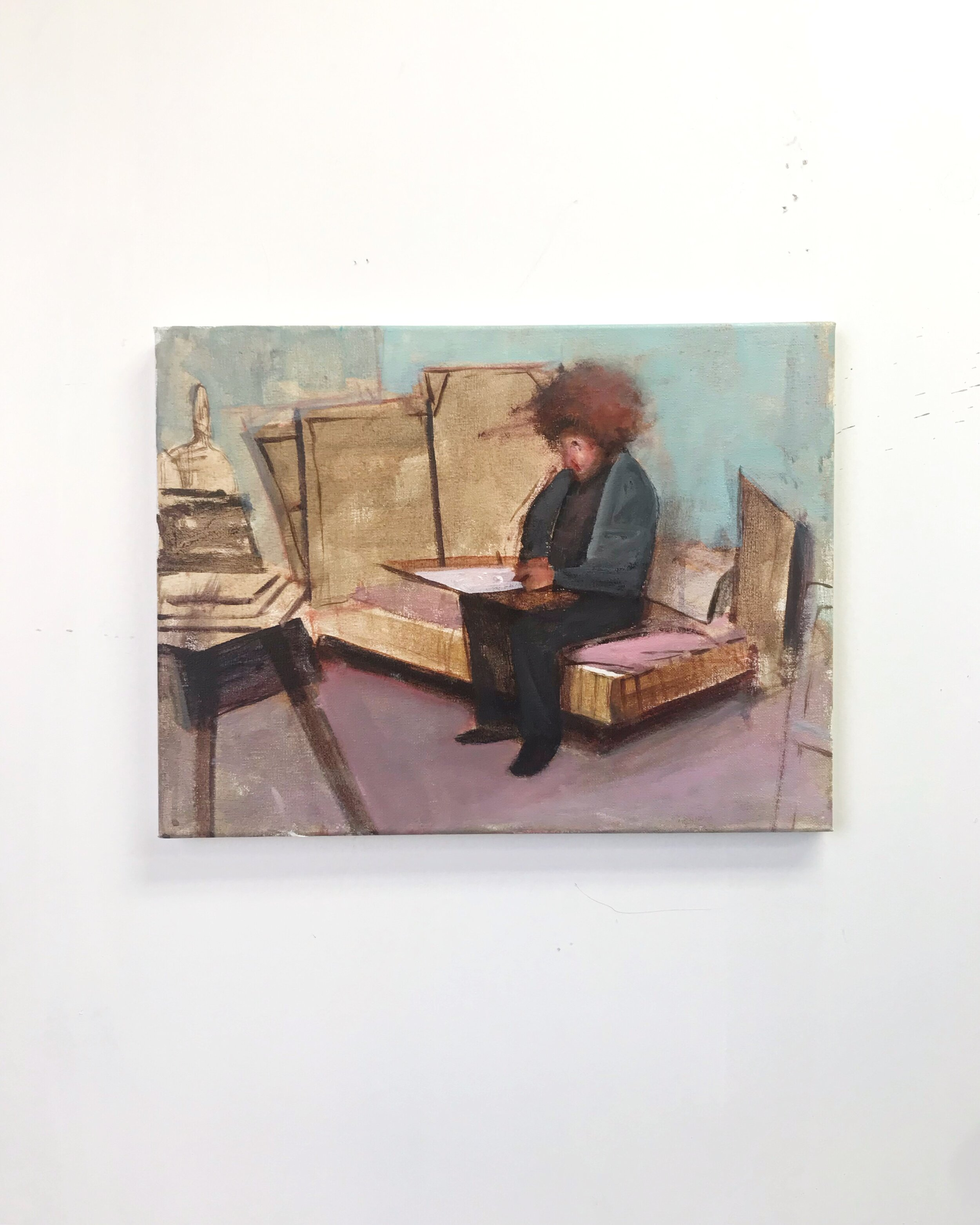 artist at his studio