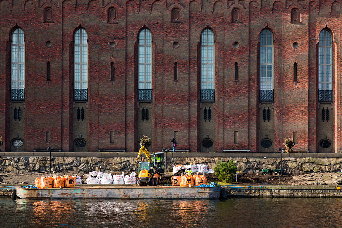 Rathaus, Fassade, Stockholm 2014