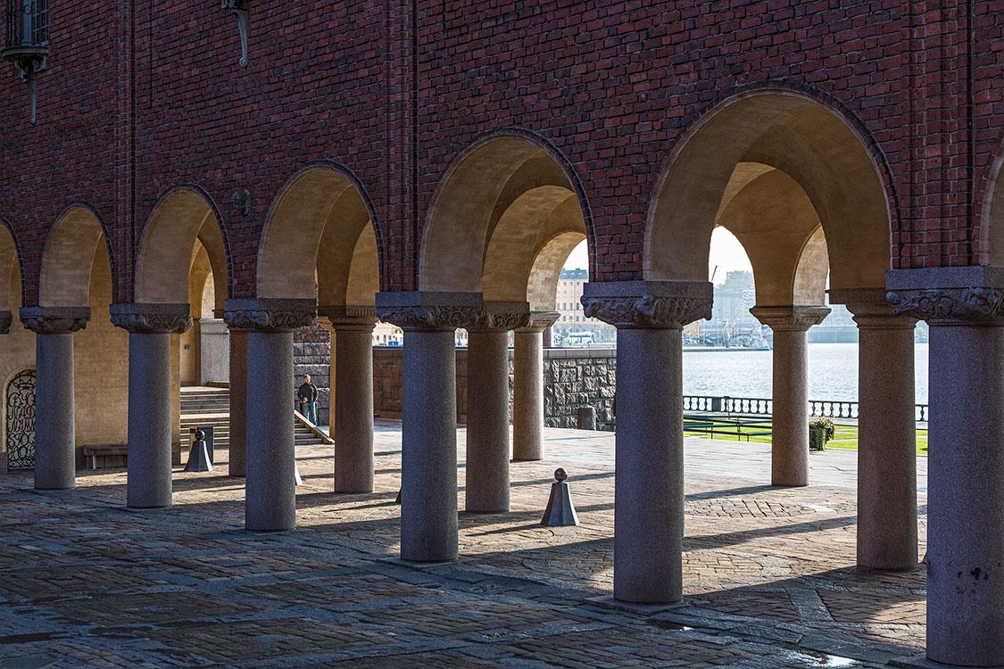 Rathaus, Arkaden, Stockholm 2014