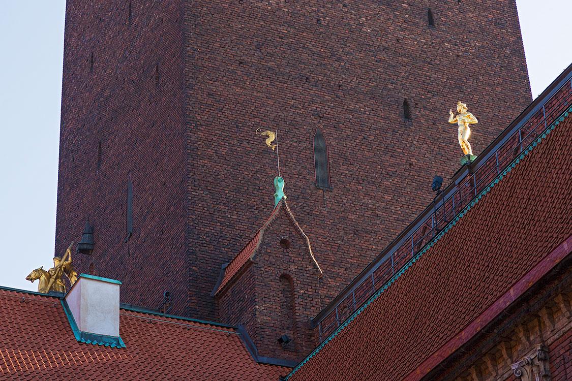 Rathaus, Detail, Stockholm 2014