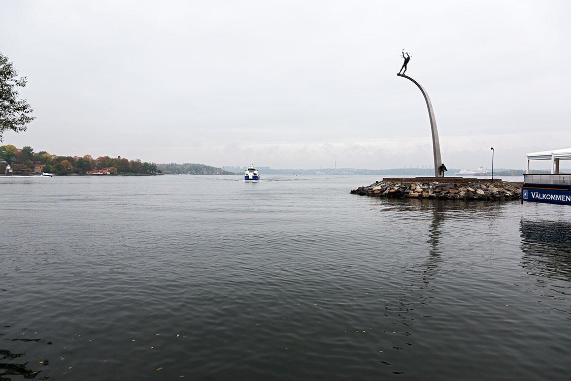 Nacka Strand, Carl Milles´ Gottvater auf dem Regenbogen, Stockh
