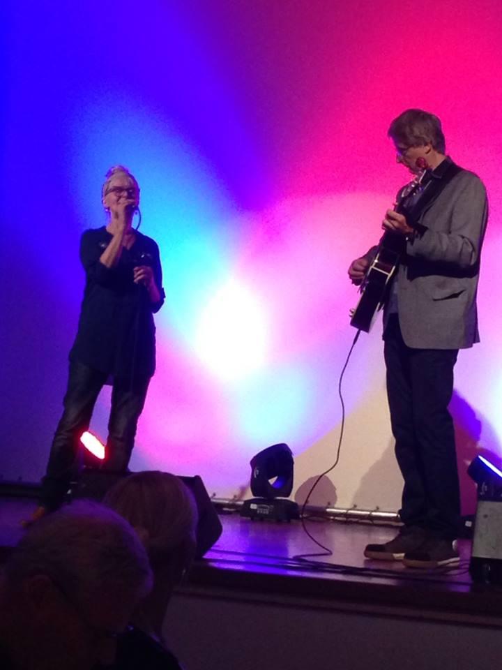 Øystein og meg på konferansejobb,2014:)Foto: Lisbeth Samuelson