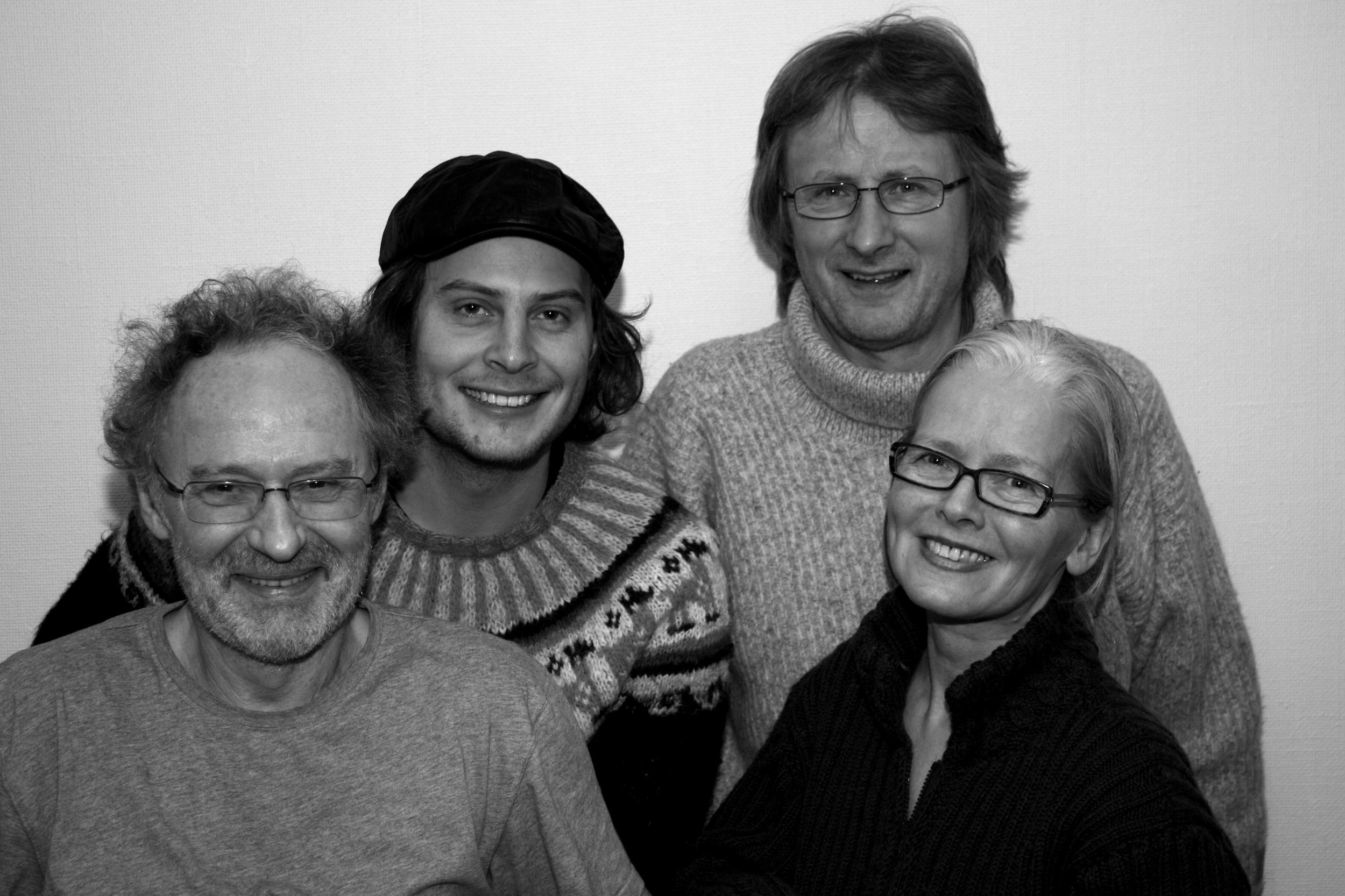 Chorinho 2008. Konrad Kaspersen, Ola Rokkones, MS, Øystein Norvoll.Foto: Eir Nilsen