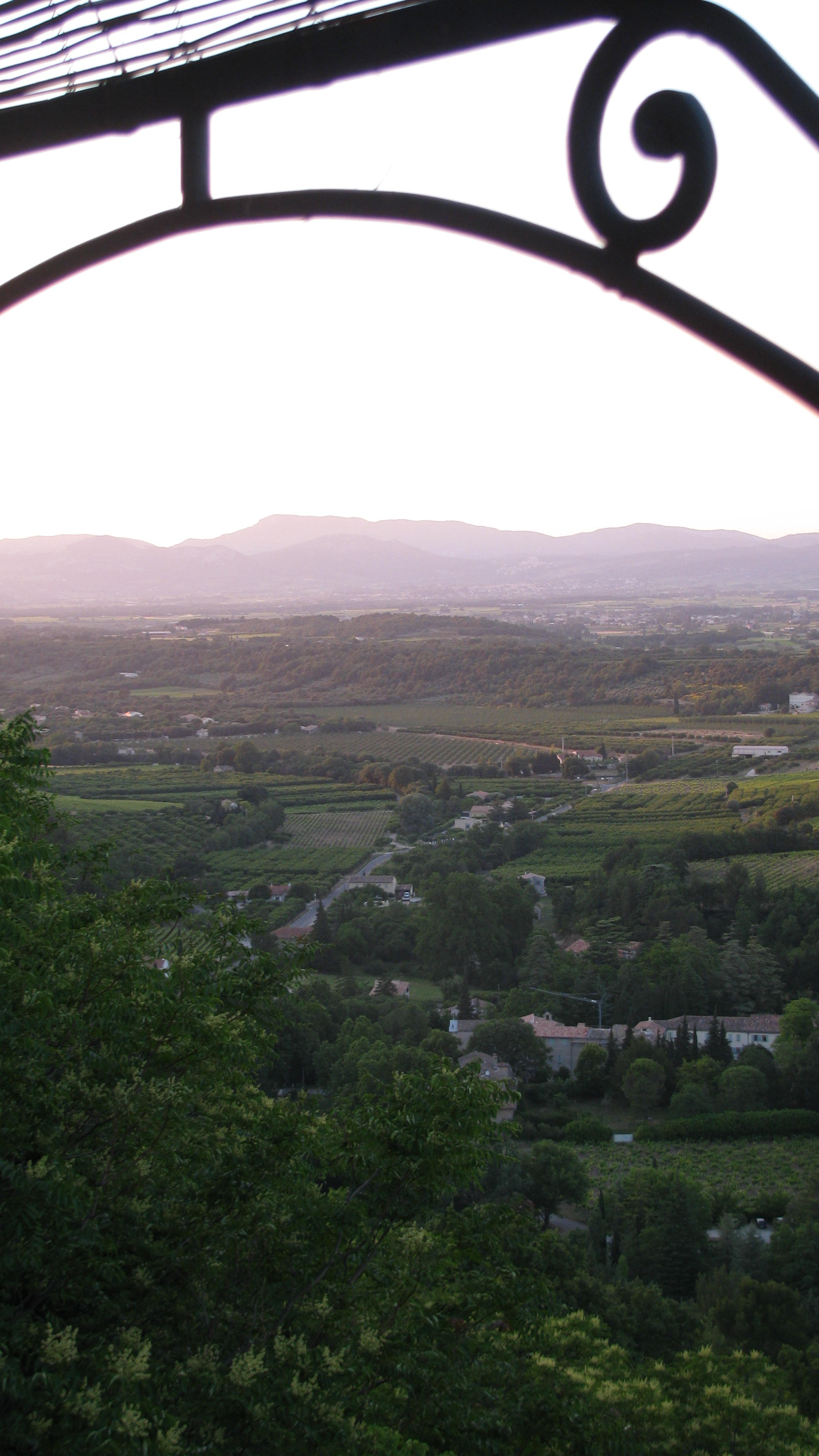 View from the balcony of our B&B in Venasque