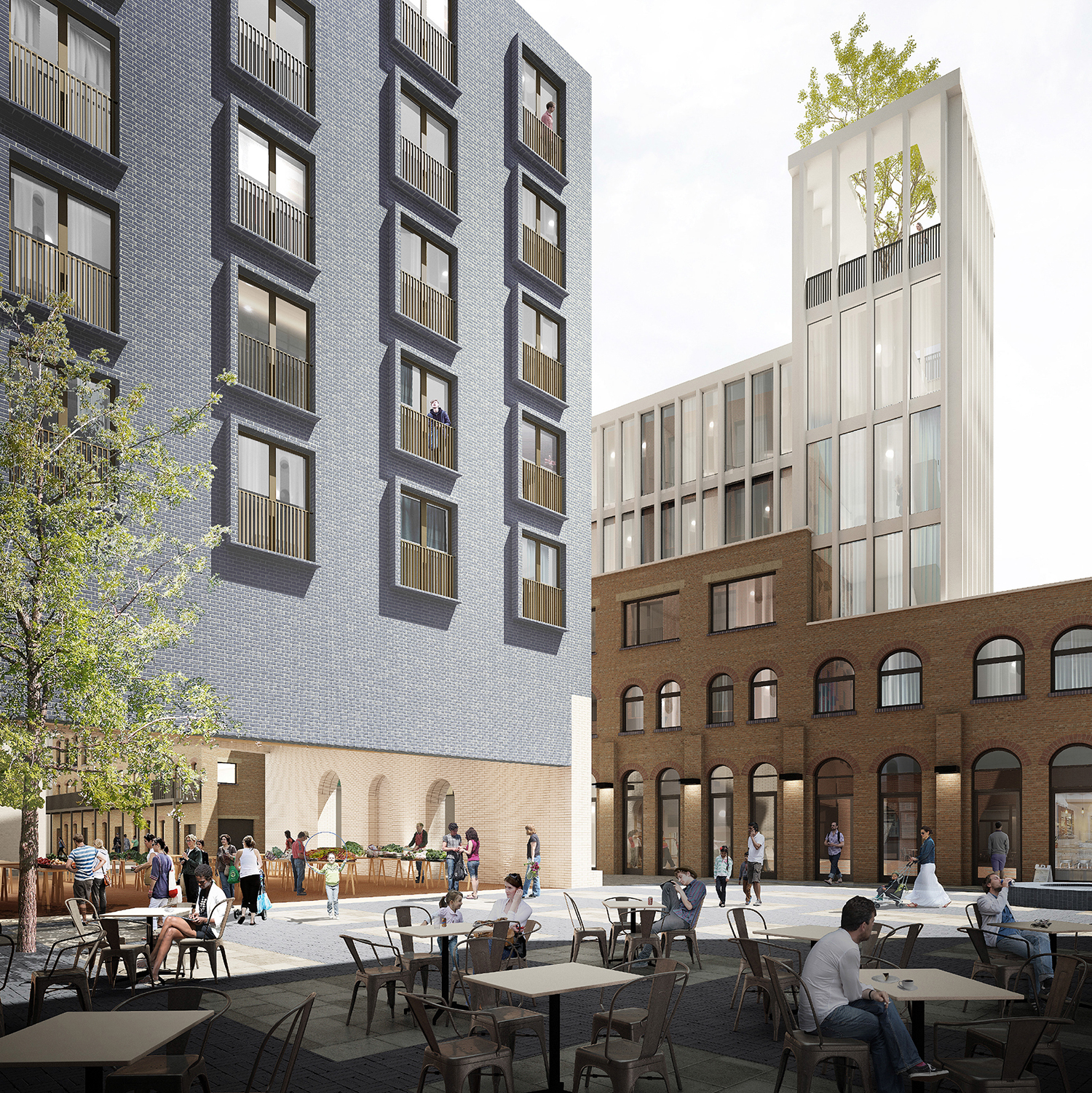 Proposed development at 443 - 449 Holloway Road. Image courtesy of Lynch Architects.