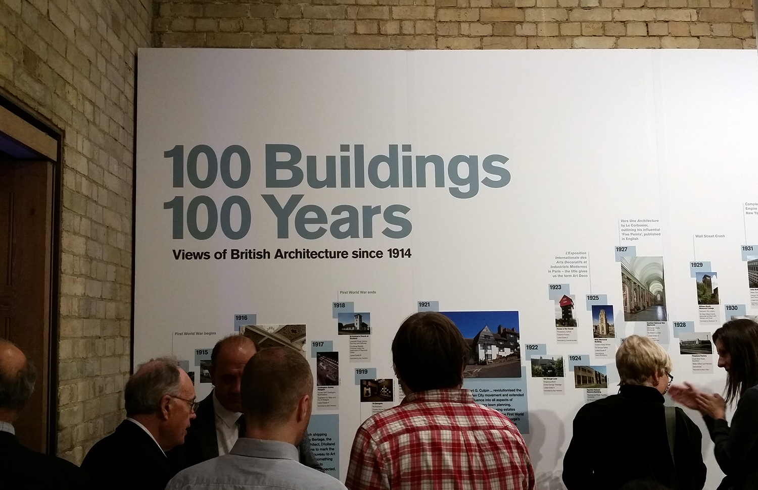 100 Years 100 Buildings exhibition at the Royal Academy of Arts to celebrate the centenary of The Twentieth Century Society.