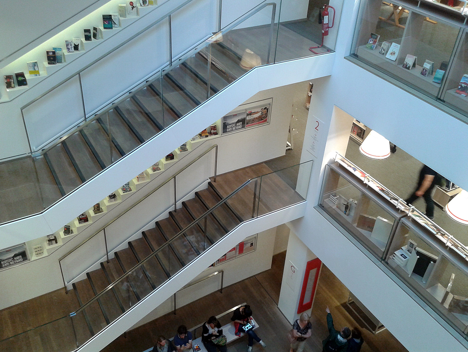 Interior of Foyles bookshop on Charing Cross Road, completed in 2014.