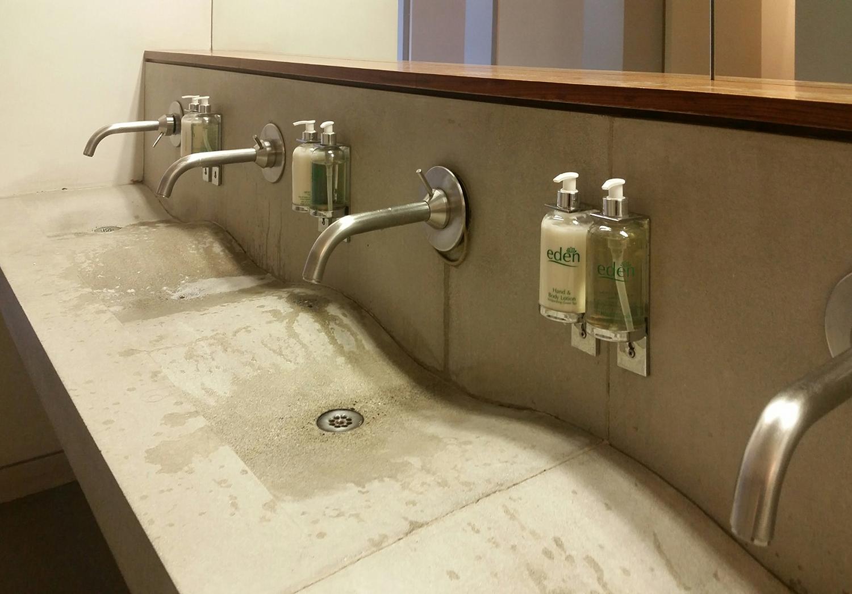 Broken tap in a ladies' washroom