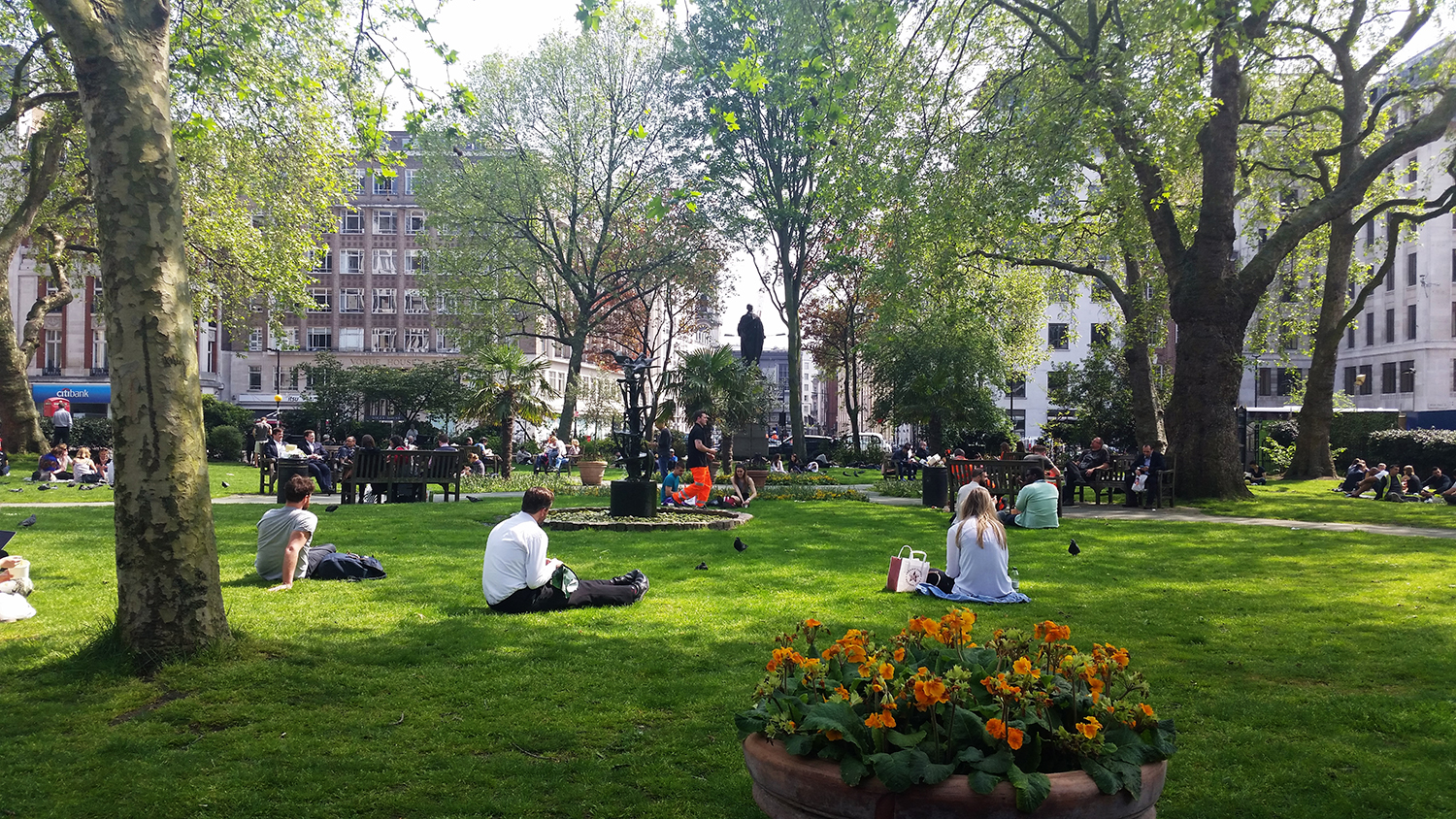 Hanover Square in May 2016. © Rachael Marshall 2016.