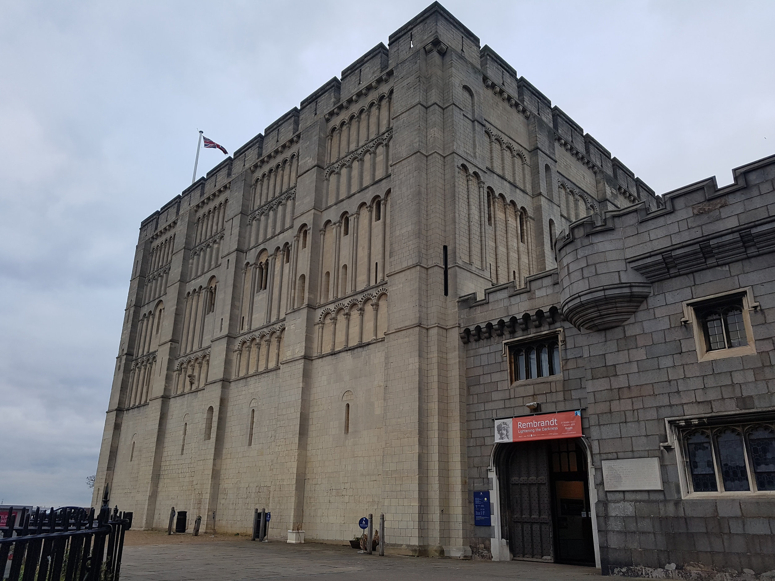 Exterior of Norwich Castle Keep. © Rachael Marshall 2018.