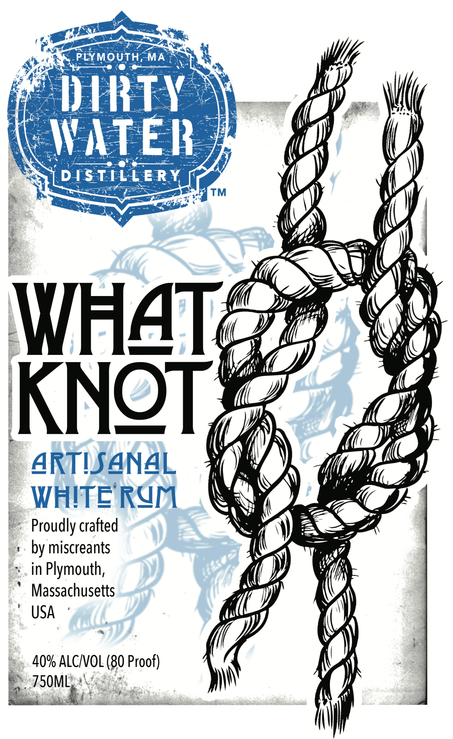 What Knot Rum  - Artisanal White Rum.  A clean and refreshing rum that blends wonderfully with any citrus (it makes an awesome mojito).  Clean enough to drink striaght - rare for a white rum!