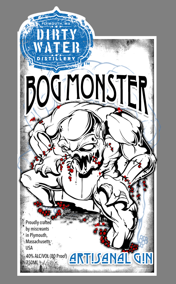 Bogmonster   Cranberry Gin -  Seeing as we're in the heart of cranberry country, we wanted to do something to pay tribute to the local industry.  Our cranberry gin adds fresh local cranberries to the juniper and botanicals to create a unique and refreshing flavor that could only come from New England.