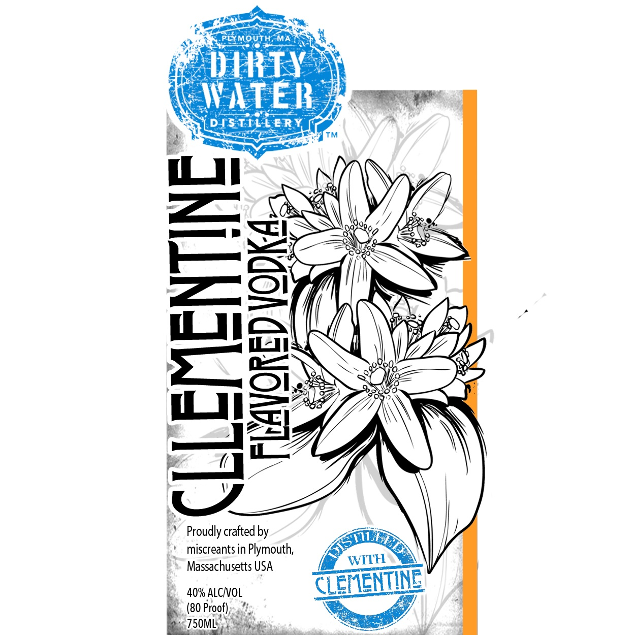 Clementine Vodka  - Clear and Crisp, made with the peels of fresh clementine oranges which are infused then distilled, providing the uniquely clear and refreshing flavor.