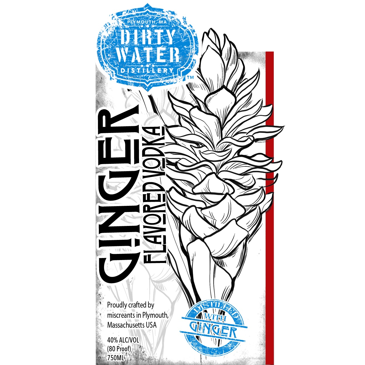 Ginger Vodka  - Surprisingly refreshing, made with freshly sliced ginger root which is infused then distilled. Amazing flavor, perfect for your Moscow Mule or just put her on the rocks and be surp