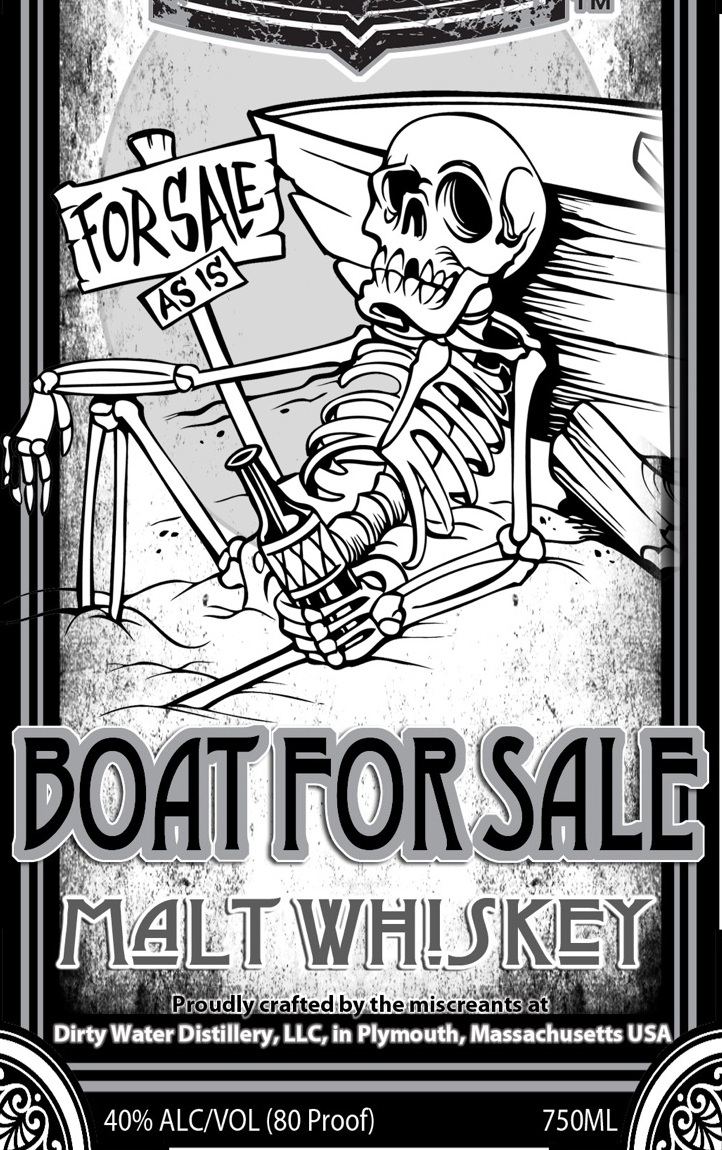 Boat For Sale Malt Whiskey  - we start with Boat For Sale Ale brewed by our friends at Independent Fermentations. Distill, age, proof, and bottle to create a unique whiskey that has a nice peak of sweetness mid-sip.