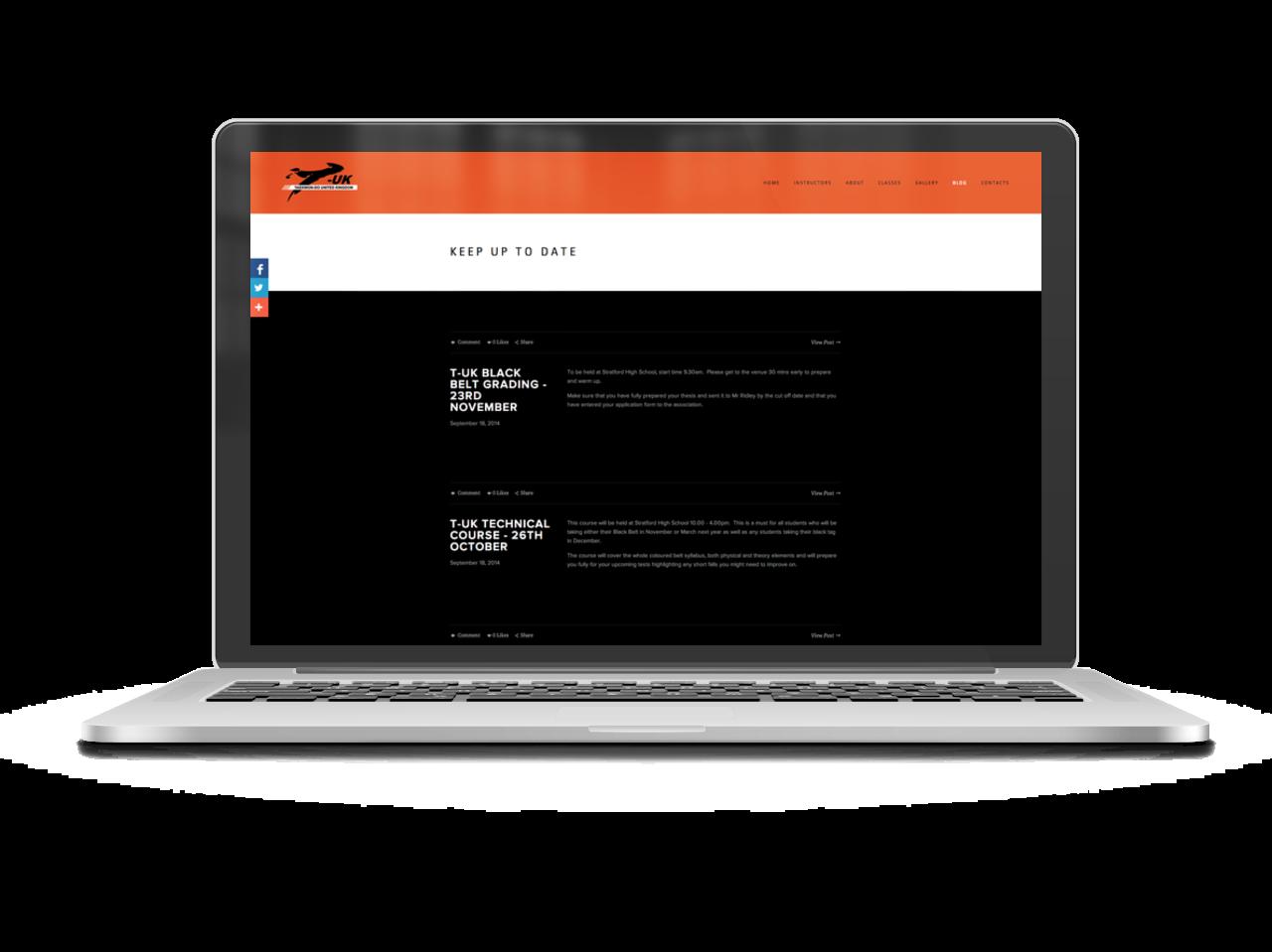 TKD Hub Squarespace website 3