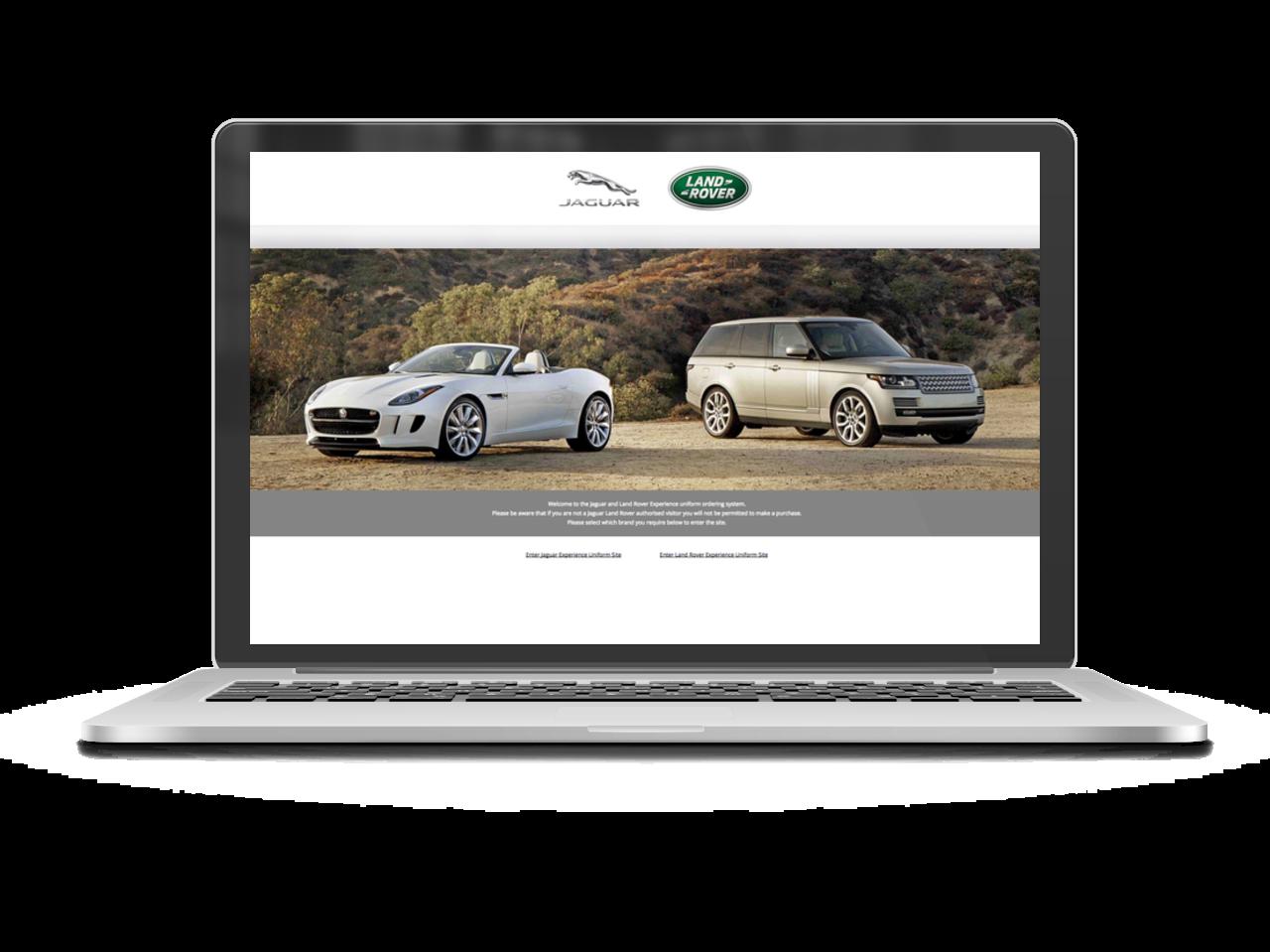 Jaguar Land Rover Portal Page