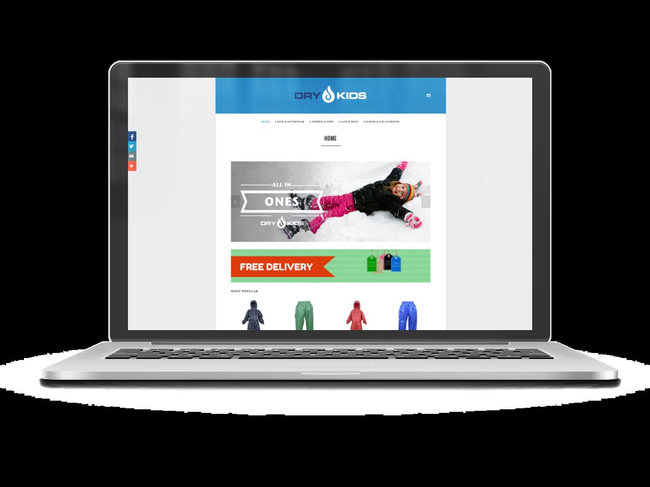 Dry Kids homepage