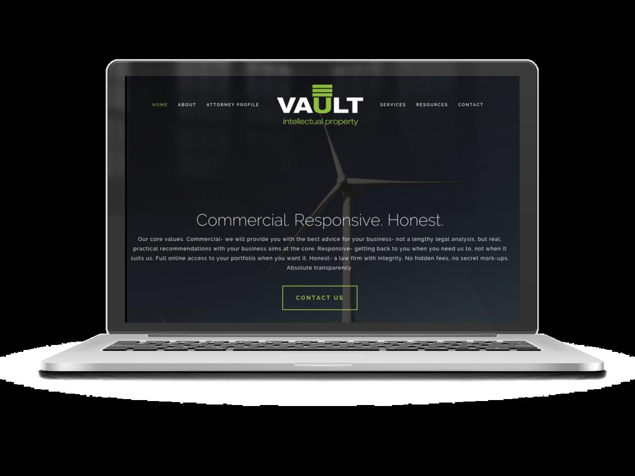 Vault IT homepage