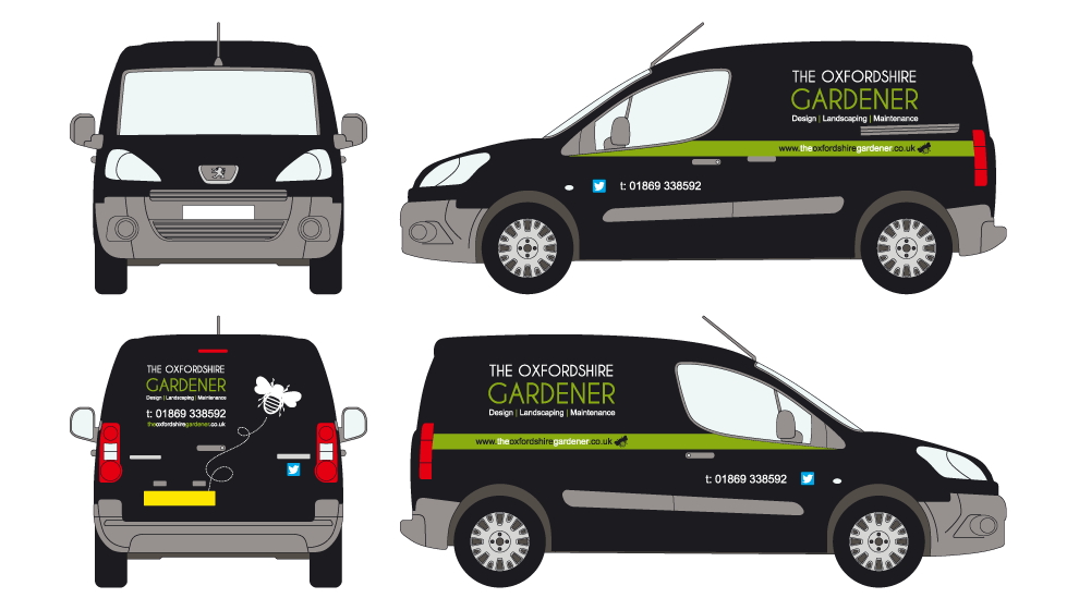 Oxfordshire Gardener Vehicle Graphics