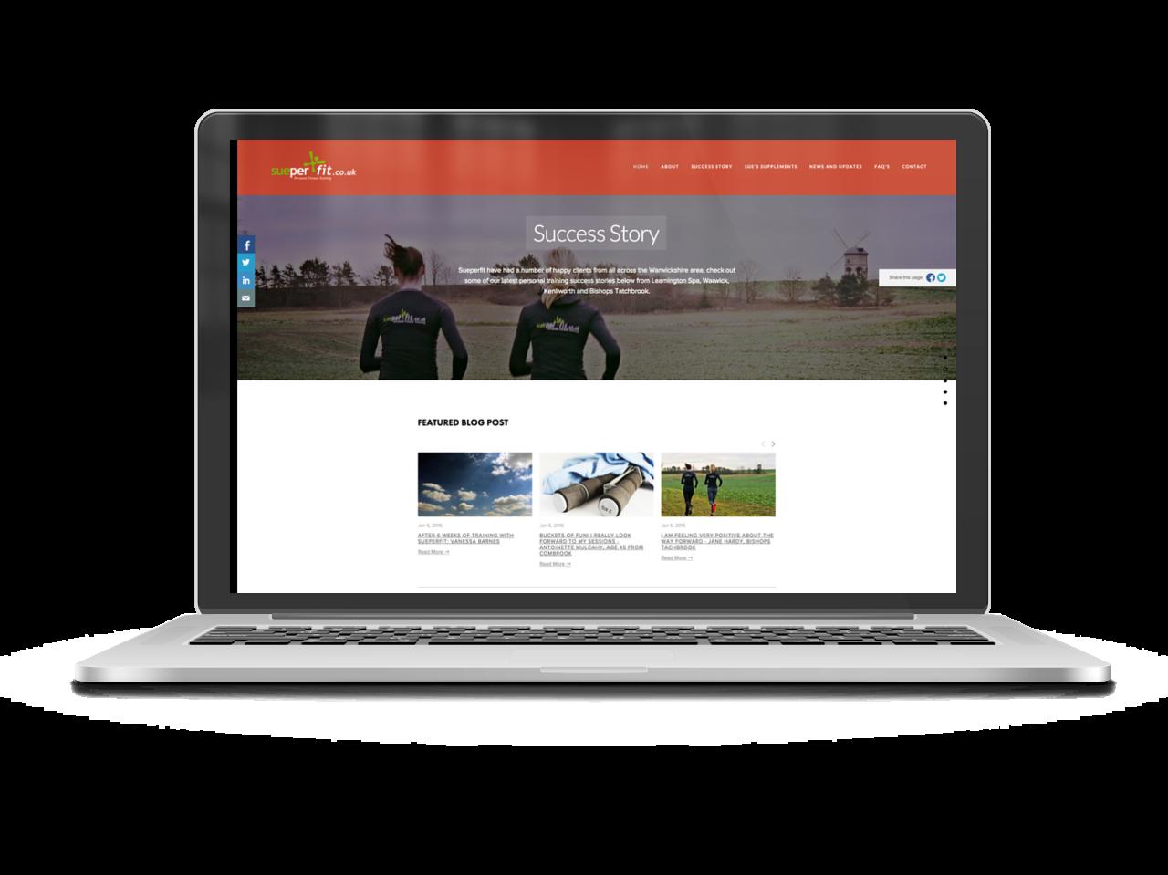 Copy of Sueperfit Website Design