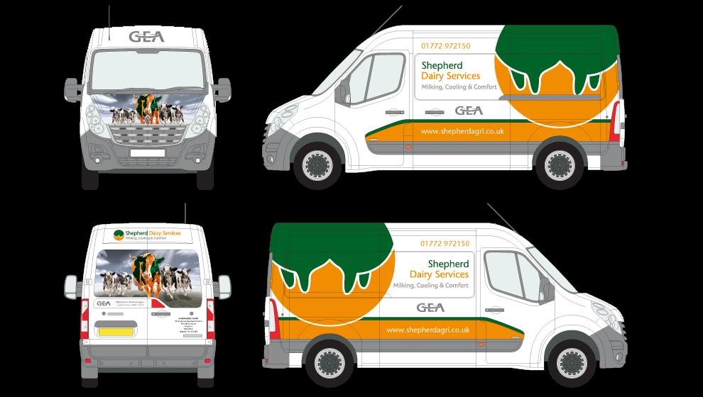 Shepherd Dairy Services Van