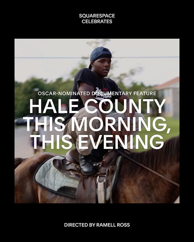 Intimate. Tender. Powerful. One of the #Oscar nominees for Best Documentary Feature, @halecountydoc is a portrait of a community from director @ramellross that reflects on the social construction of race and trumpets the power of dreams. Learn more about this beautiful film via its #Squarespace site. #SQSP #AcademyAwards #HaleCounty