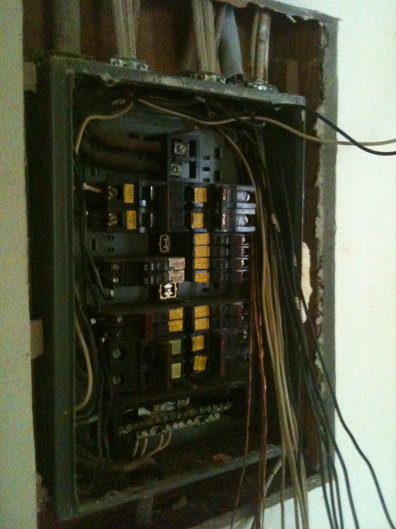 Replacing an old FPE panel. Most insurance companies require these panels to be replaced before writing a homeowners policy.