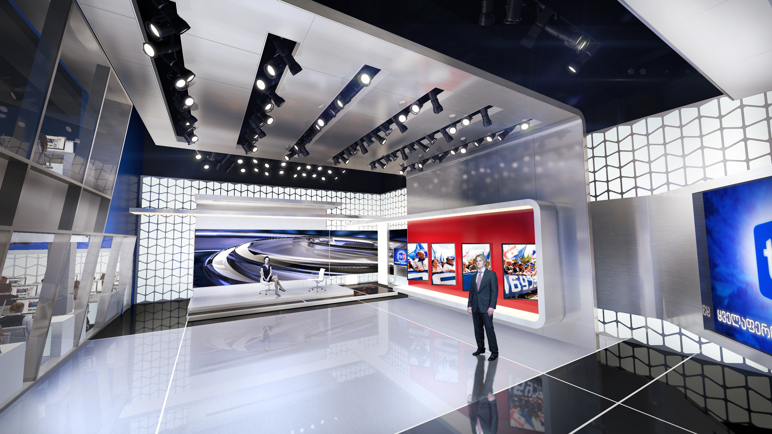 TV9 Headquarters Newsroom Studio Design