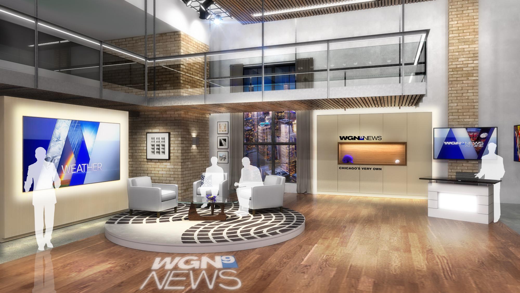 WGN TV9 Newscast Broadcast Studio Design