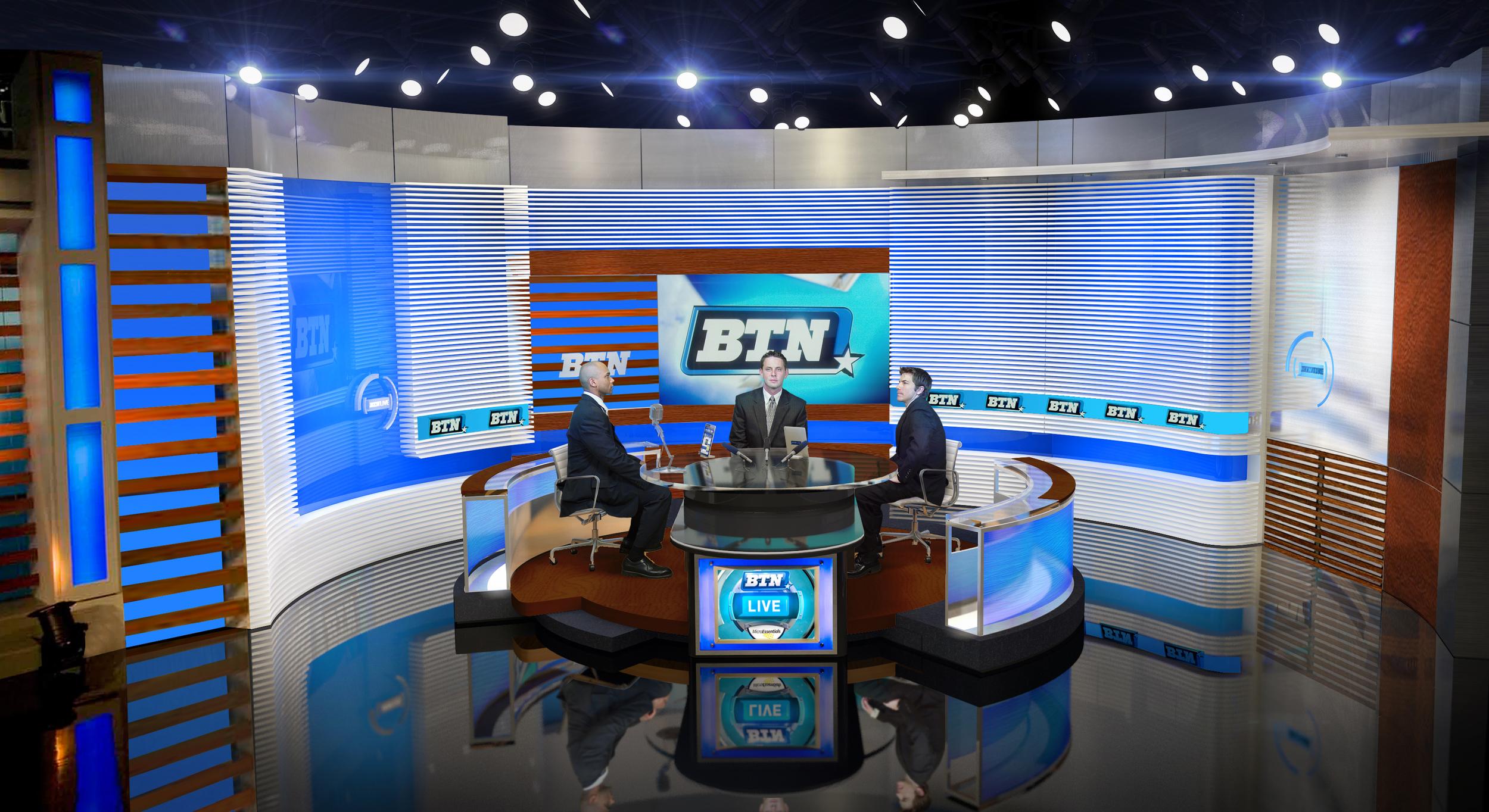 Big Ten Network Broadcast Studio Design