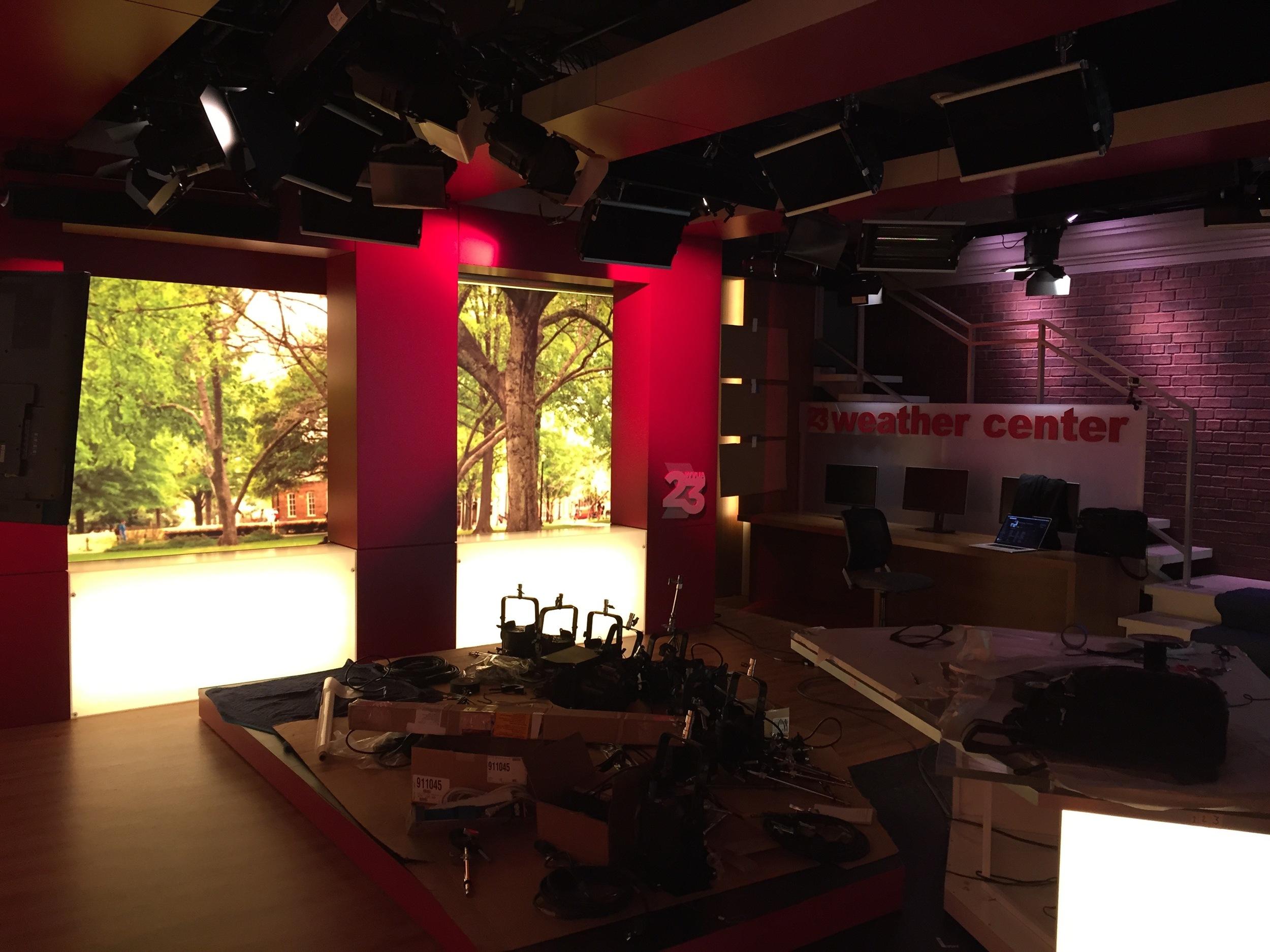 WVUA 23 Alabama University Broadcast Studio Design