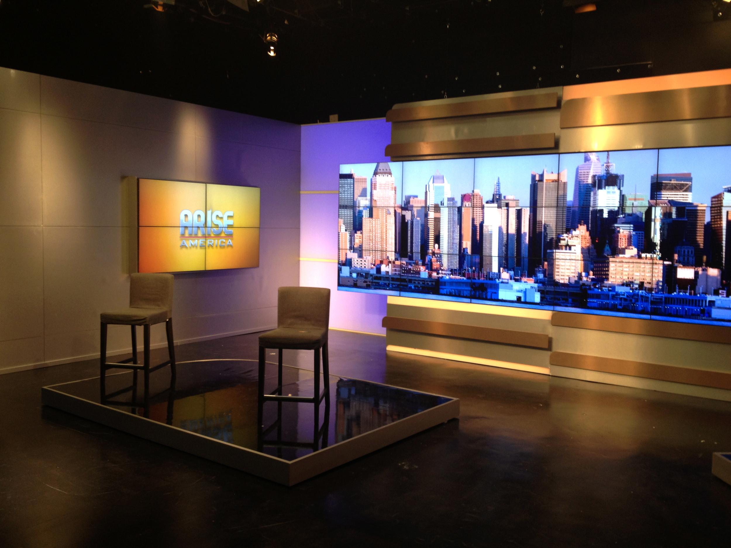 ARISE News New York Broadcast Studio Design