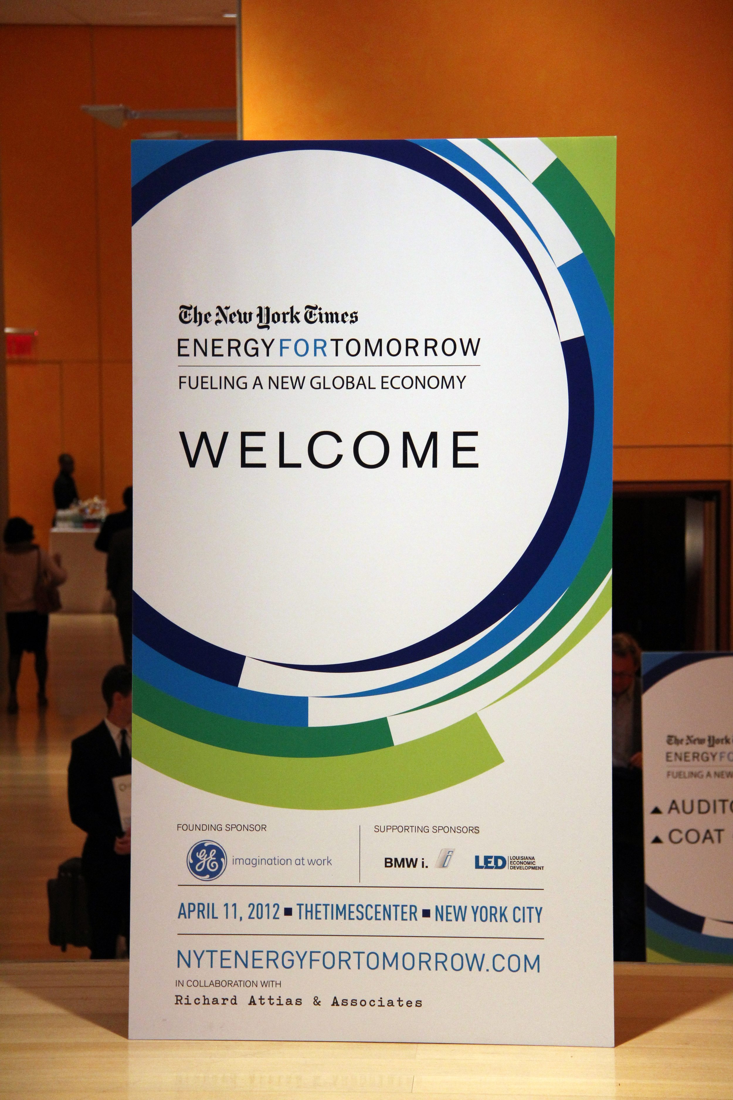 New York Times Energy Branded Conference Event Design