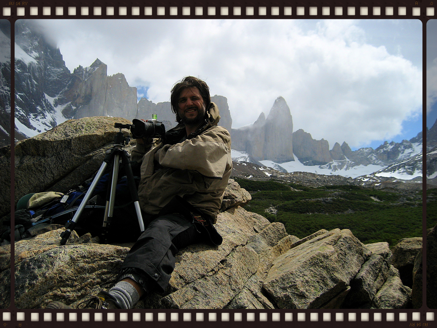 Shooting in Torres del Paine National Park, Patagonia, Chile.