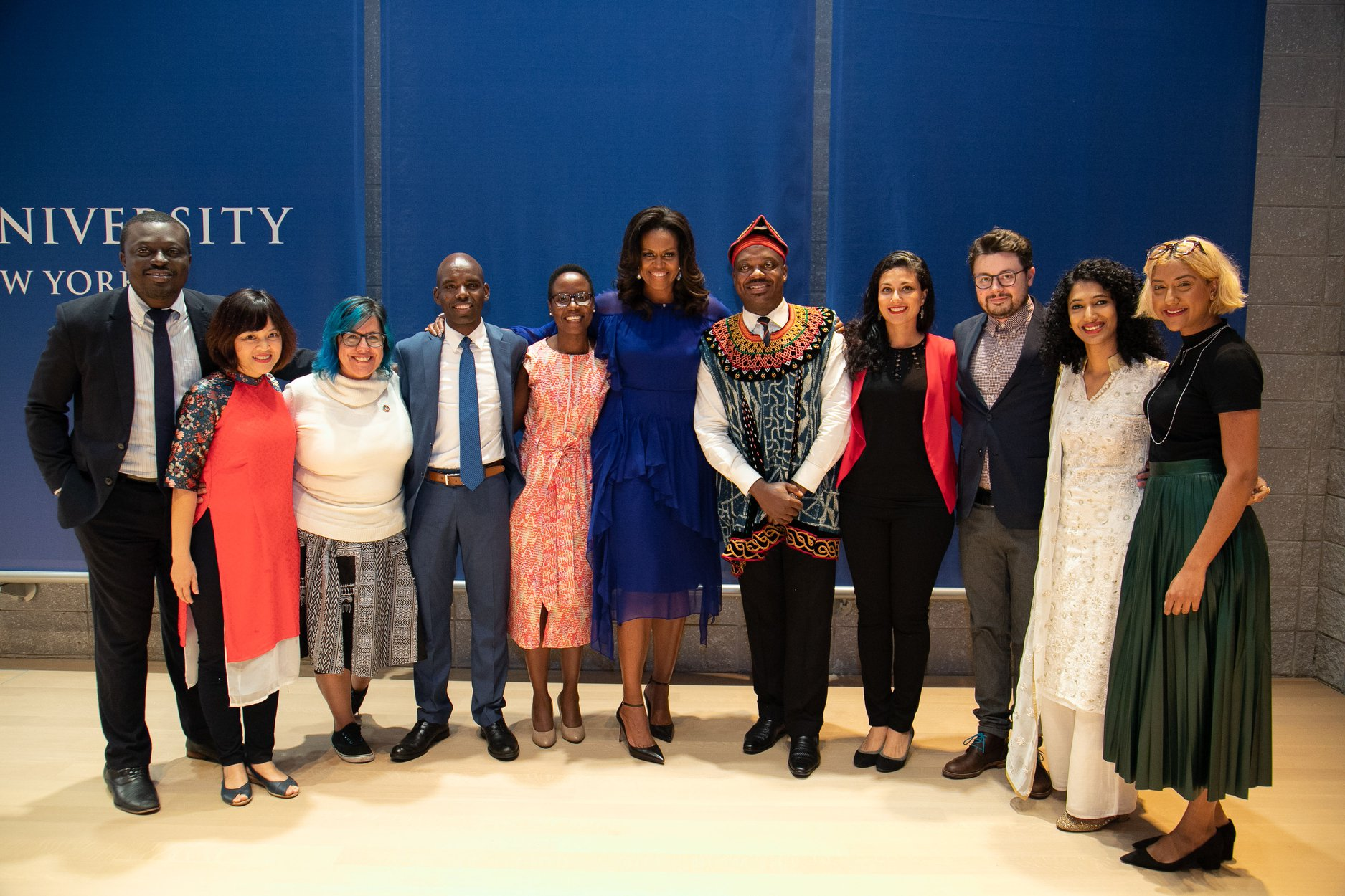 Michelle Obama and the Obama Foundation Scholars at Columbia University (our very own Pavel is third from the right).