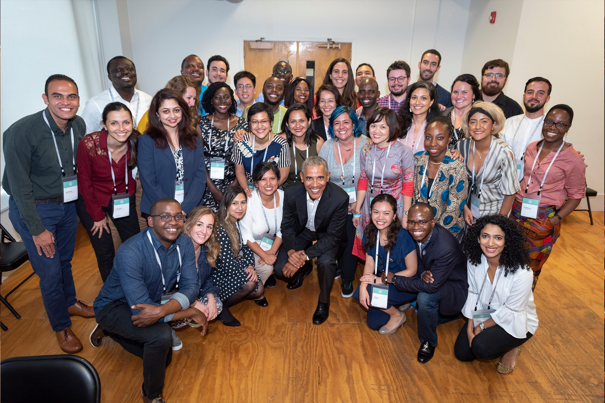 The President Barak Obama and the Obama Foundation Scholars at Columbia University and the University of Chicago.